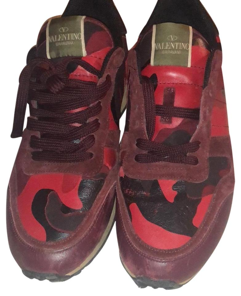3650446452fc Valentino Red Camo Rockrunner Sandals Size EU 41 (Approx. US 11 ...