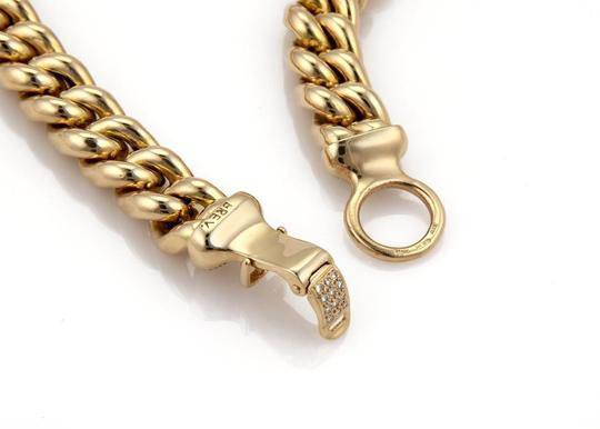 Other 1.40ct Diamond 14k Yellow Gold Puffed Curb Link Necklace Image 2