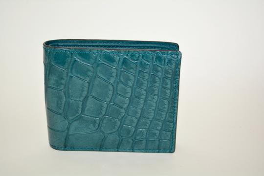 Gucci NIB GUCCI CROCODILE LEATHER BIFOLD WALLET MADE IN ITALY Image 5