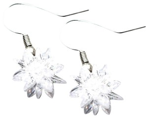 Ocean Fashion Snow white crystal earrings