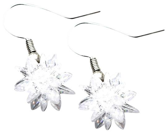 Ocean Fashion Snow white crystal earrings Image 0
