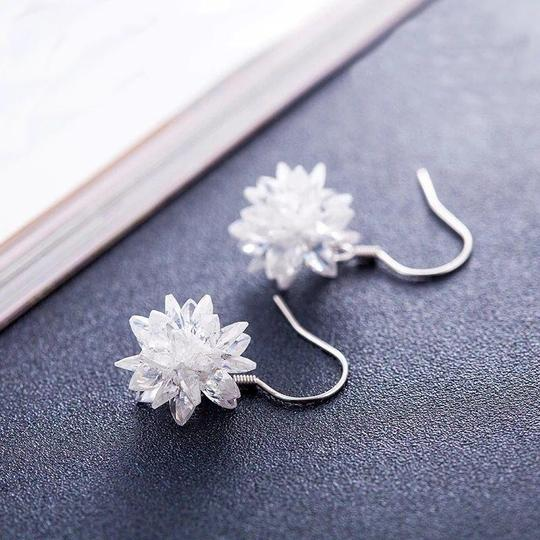 Ocean Fashion Snow white crystal earrings Image 3