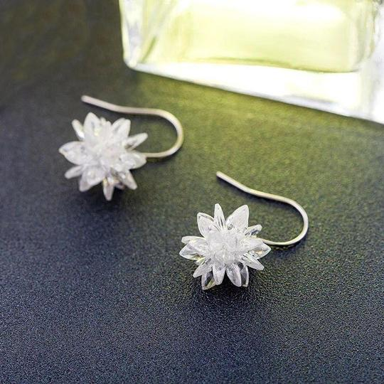 Ocean Fashion Snow white crystal earrings Image 5