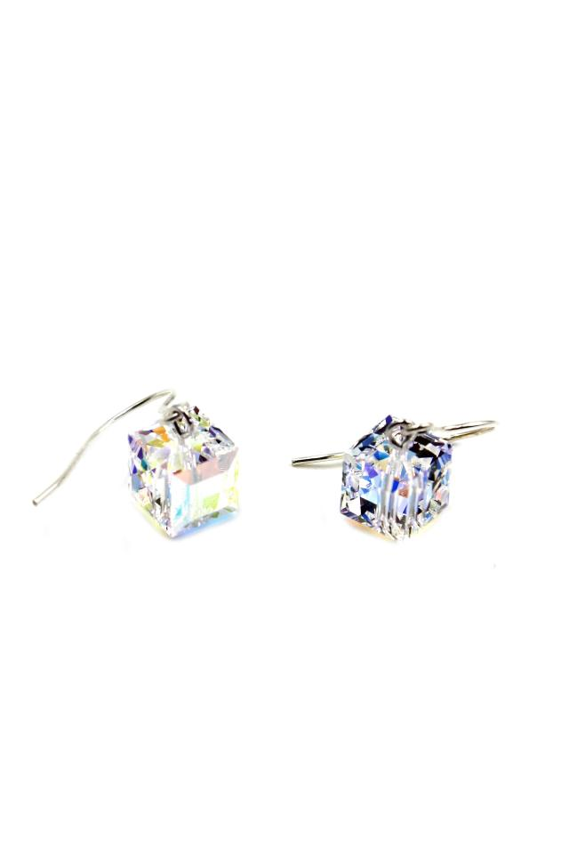 Ocean Fashion Simple Square Crystal Earrings