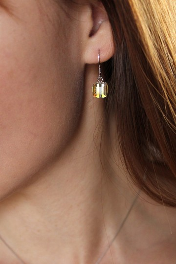 Ocean Fashion Simple square crystal earrings Image 1