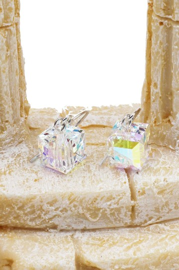 Ocean Fashion Simple square crystal earrings Image 2