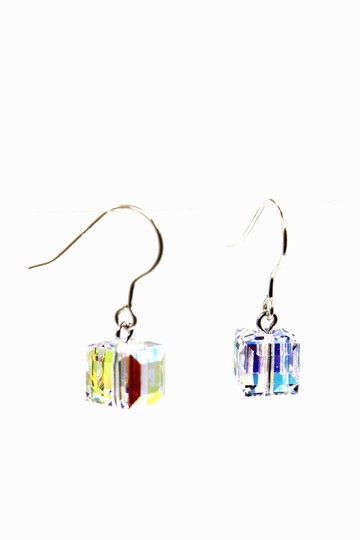 Ocean Fashion Simple square crystal earrings Image 3