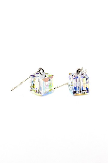 Ocean Fashion Simple square crystal earrings Image 4