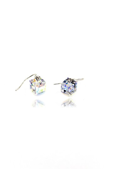 Ocean Fashion Simple square crystal earrings Image 6