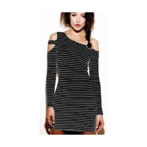 Torn by Ronny Kobo Cocktail Jersey Bodycon Cut-out Cold Shoulder Dress
