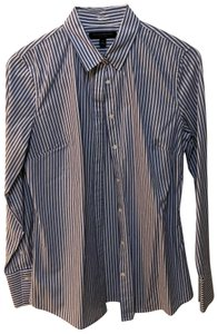 Banana Republic Button Down Shirt blue stripes