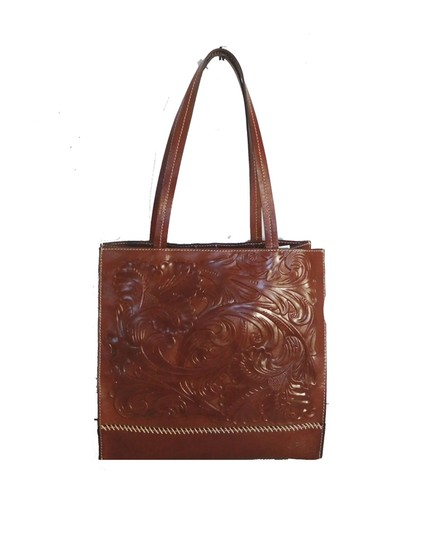 Preload https://img-static.tradesy.com/item/24193202/patricia-nash-designs-hand-tooled-brown-leather-tote-0-0-540-540.jpg