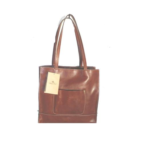 Patricia Nash Designs Leather Hand Tooled Back Pocket Tote in brown Image 2