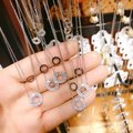Ocean Fashion Rose gold Duplexes crystal circle necklace Image 2