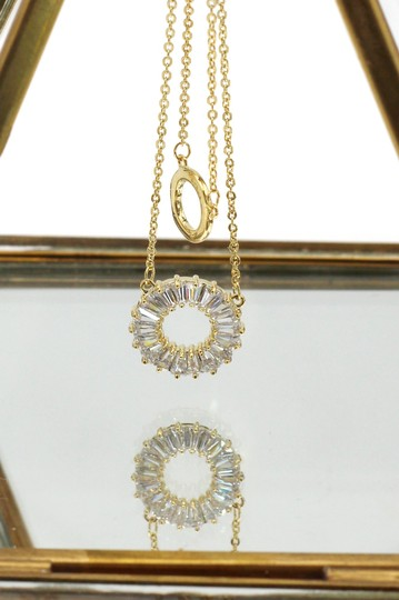 Ocean Fashion Gold Duplexes crystal circle necklace Image 3
