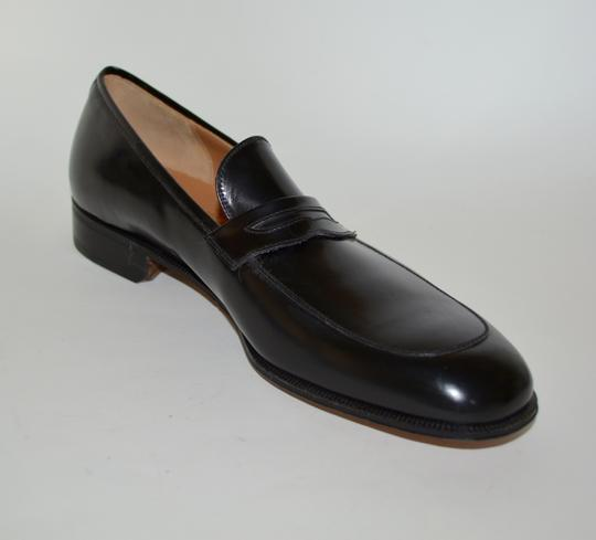 Salvatore Ferragamo Leather Loafer Black Formal Image 1