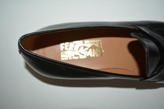 Salvatore Ferragamo Leather Loafer Black Formal Image 10