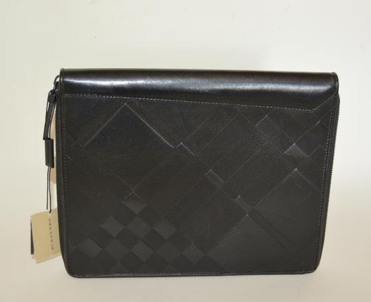 Burberry NWT BURBERRY $425 QUILT CHECK LEATHER TABLET IPAD COMPUTER SLEEVE CASE Image 2