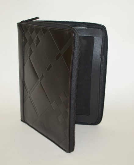 Burberry NWT BURBERRY $425 QUILT CHECK LEATHER TABLET IPAD COMPUTER SLEEVE CASE Image 3