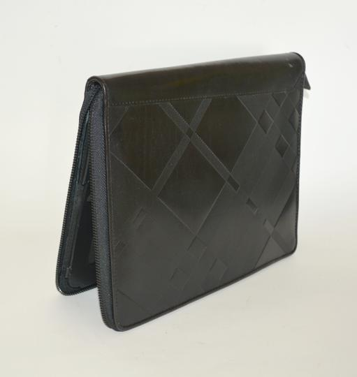 Burberry NWT BURBERRY $425 QUILT CHECK LEATHER TABLET IPAD COMPUTER SLEEVE CASE Image 4