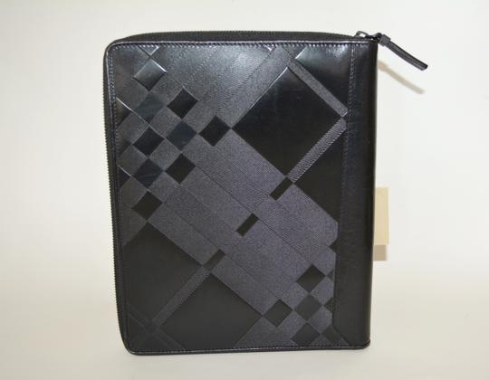 Burberry NWT BURBERRY $425 QUILT CHECK LEATHER TABLET IPAD COMPUTER SLEEVE CASE Image 7