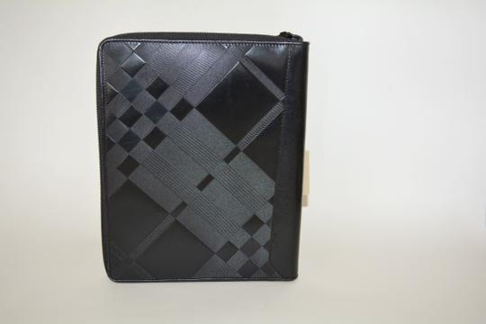 Burberry NWT BURBERRY $425 QUILT CHECK LEATHER TABLET IPAD COMPUTER SLEEVE CASE Image 8