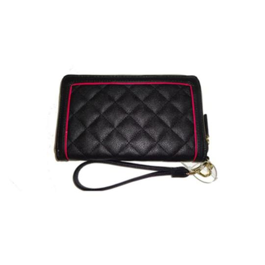 Betsey Johnson Quilted Logo Medium Bow Wallet Tote in PINK Image 6