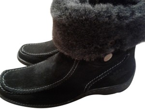 Spring Step Suede Upper Faux Fur Inside Inside Zipper Round Toe Made In Turkey black Boots