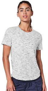 Lululemon Lululemon Athletica Womens Long Distance Short Sleeve Heathered White