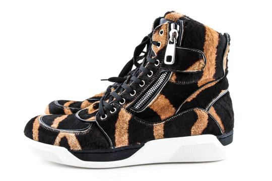 Dolce&Gabbana Black And Brown Pony Hair High Sneakers Shoes Image 3