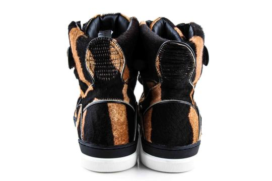 Dolce&Gabbana Black And Brown Pony Hair High Sneakers Shoes Image 4