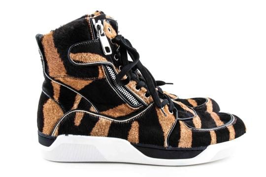Dolce&Gabbana Black And Brown Pony Hair High Sneakers Shoes Image 5
