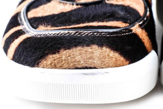 Dolce&Gabbana Black And Brown Pony Hair High Sneakers Shoes Image 6