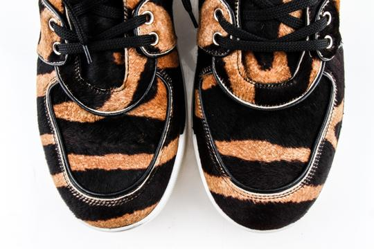 Dolce&Gabbana Black And Brown Pony Hair High Sneakers Shoes Image 7