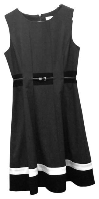 Preload https://img-static.tradesy.com/item/24193587/calvin-klein-gray-with-black-and-white-hemline-belted-fit-flare-mid-length-formal-dress-size-6-s-0-1-650-650.jpg
