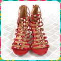Charming Lady Red Sandals Image 1