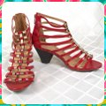 Charming Lady Red Sandals Image 3