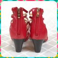 Charming Lady Red Sandals Image 5