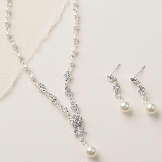 Silver Floral Jewelry Set Image 1