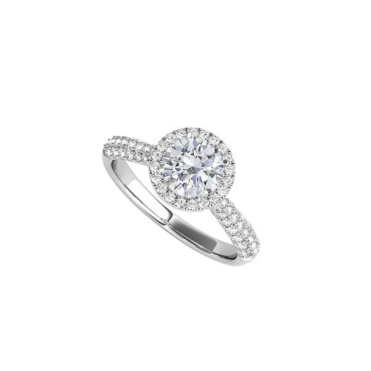 Preload https://img-static.tradesy.com/item/24193745/white-sparkling-cz-halo-engagement-in-14k-gold-ring-0-0-540-540.jpg