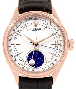 Rolex Rolex Cellini Moonphase Everose Rose Gold Automatic Mens Watch 50535