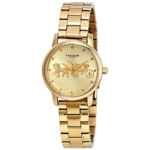 Coach Coach Women's Grand Gold Dial Yellow Gold-tone Watch 14502976