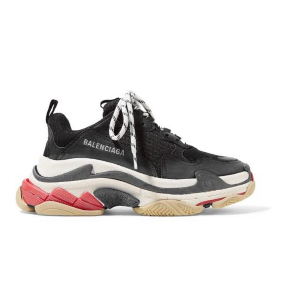0484179943 Balenciaga Triple S Suede Leather Dad Sneakers Size US 9 Regular (M ...