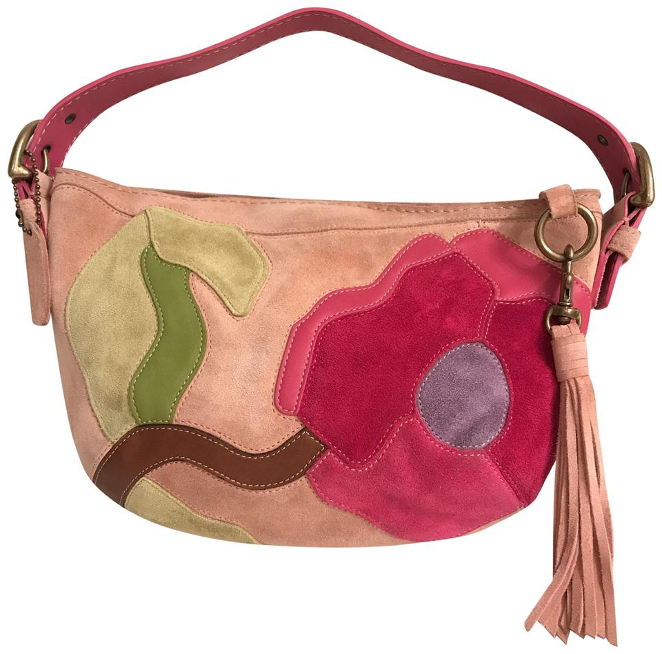 a0a8f4546e Coach Rare Special Edition Poppy For Peace Collection Patchwork 9260 ...