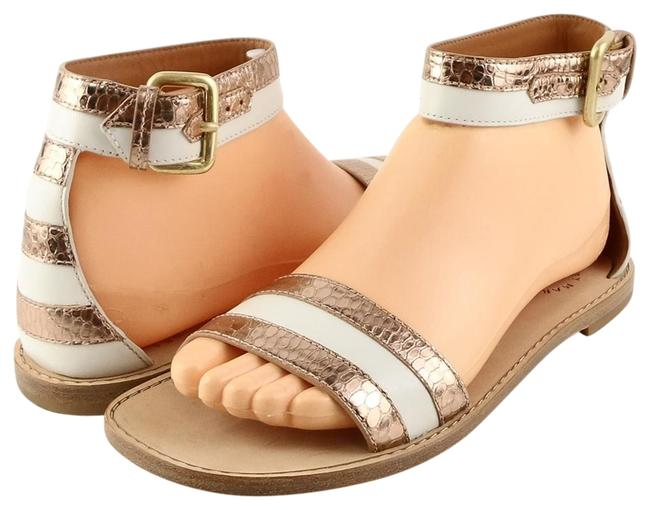 Item - Ivory Rose Gold 645053 Leather Sandals Size EU 37 (Approx. US 7) Regular (M, B)