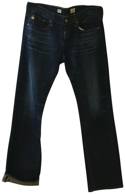Item - Blue Distressed Tomboy Relaxed Straight Boyfriend Cut Jeans Size 30 (6, M)