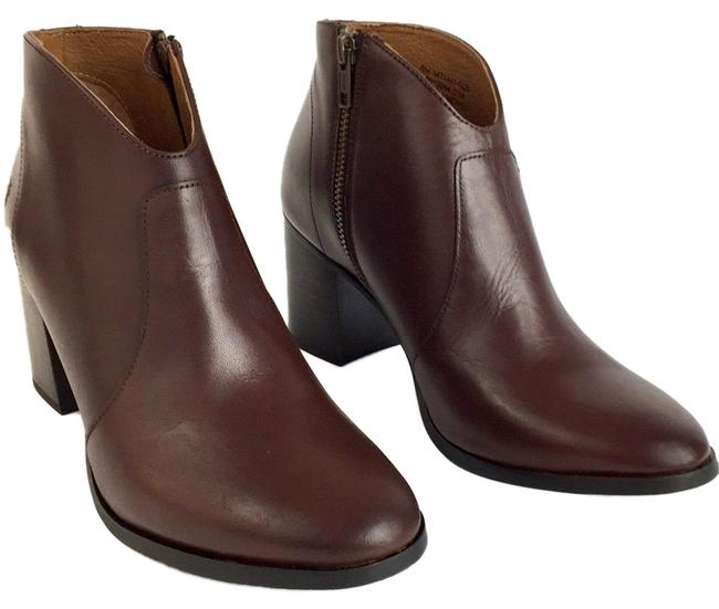 Item - Red Brown New Zip Leather Ankle Boots/Booties Size US 8 Regular (M, B)