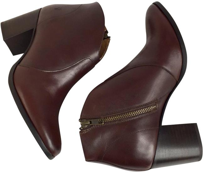 Item - Red Brown New Zip Leather Ankle Boots/Booties Size US 9 Regular (M, B)