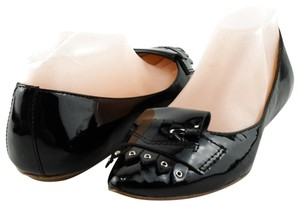 Belle by Sigerson Morrison Patent Pointed Black Flats