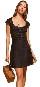 Reformation Corset Laceup Mini Dress